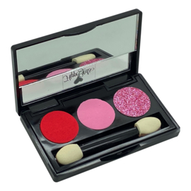Luxe Oogschaduw Princes pink/red (met spiegeltje)