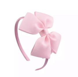Diadeem met strik: licht roze