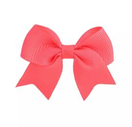 Haarspeldjes: koraal roze strik