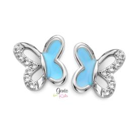 Zilveren kinderoorbellen: Vlinders (Gento for kids)