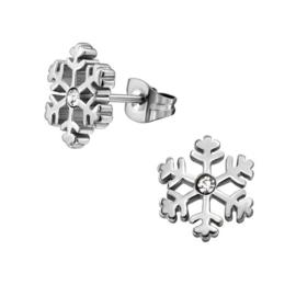 Chirurgisch staal kinderoorbellen: sneeuwvlok (frozen)