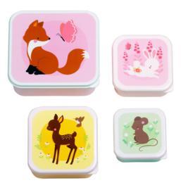 A Little Lovely Company: Lunch & snack box set: Bosvriendjes