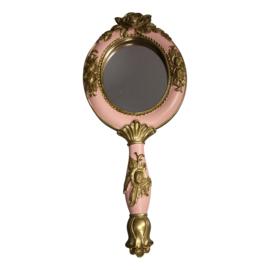 Vintage spiegel Roze/Goud