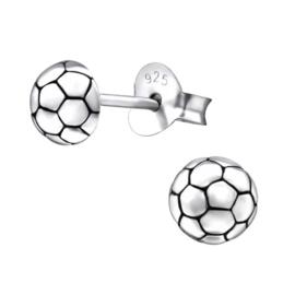 Zilveren kinderoorbellen: Voetbal