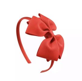 Diadeem met strik: rood