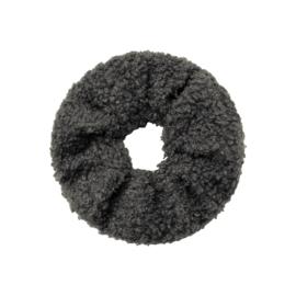 Scrunchie muis grijze teddy soft