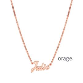 Ketting met naam (verguld rosé goud) ORAGE