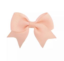 Haarspeldjes: zalm roze strik