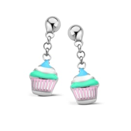 Zilveren kinderoorbellen: Cupcake (Naiomy Princess)