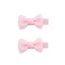 Haarspeldjes: Strikjes roze (2stk)