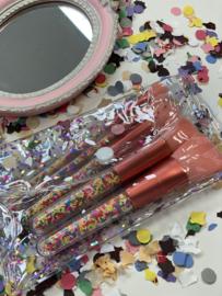 Kwastenset met glitter tasje