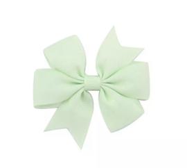 Haarspeldjes: groen strik (groot)