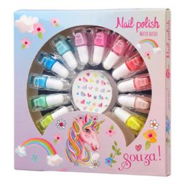 Beauty setje 12 nagellakjes en nagelstickers