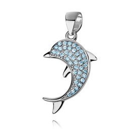 Zilveren bedeltje dolfijn