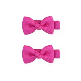 Haarspeldjes: Strikjes roze/paars (2stk)