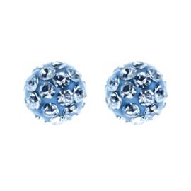 Sensitive Chirurgisch staal kinderoorbellen: blauw bolletje