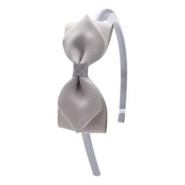 Diadeem met strikje: grijs