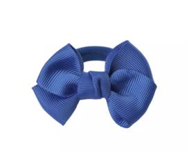 Haarelastiekjes: Met blauwe strik