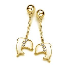 Gouden kinderoorbellen: dolfijntjes (Naiomy Princess)