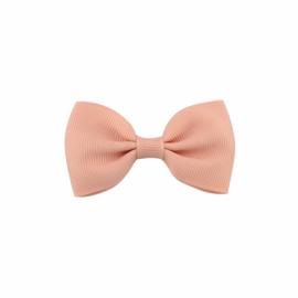 Haarspeldjes: Perzik roze strik