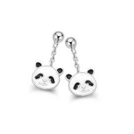 Zilveren kinderoorbellen: Panda (Naiomy Princess)