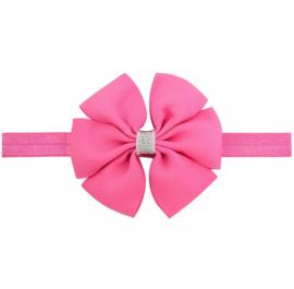 Haarbandje met strik roze