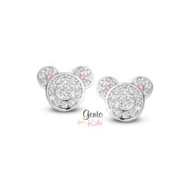 Zilveren kinderoorbellen: sparkle (Gento for kids)