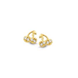 Gouden kinderoorbellen: kers (Naiomy Princess)