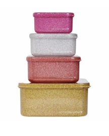 A Little Lovely Company: Lunch & snack box set: Gold blush