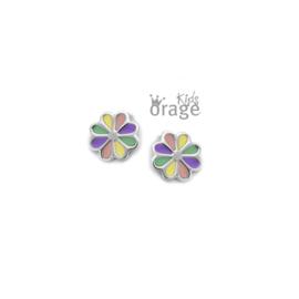 Zilveren kinderoorbellen: Bloemetje (ORAGE)