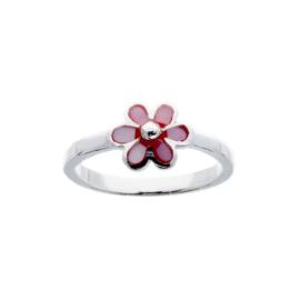 Kinderring roze bloemetje