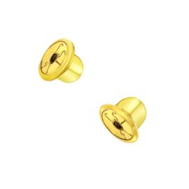 Goud achterkantje schroefsluiting (1 stuk)