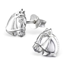 Zilveren kinderoorbellen: Paardenhoofd