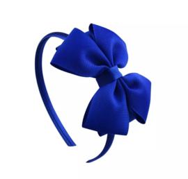 Diadeem met strik:  blauw
