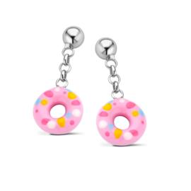 Zilveren kinderoorbellen: Donut (Naiomy Princess)