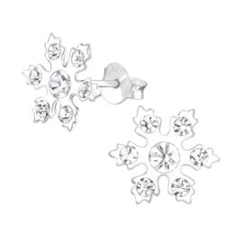 Zilveren kinderoorbellen: Sneeuwvlok (frozen)
