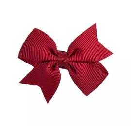 Haarspeldjes: Bordeaux rode strik