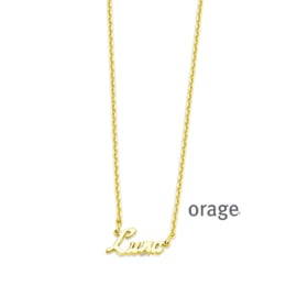 Ketting met naam (verguld goud) ORAGE