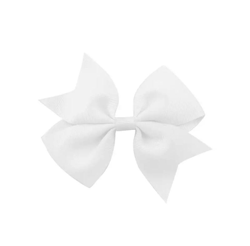 Haarspeldjes: witte strik (groot)