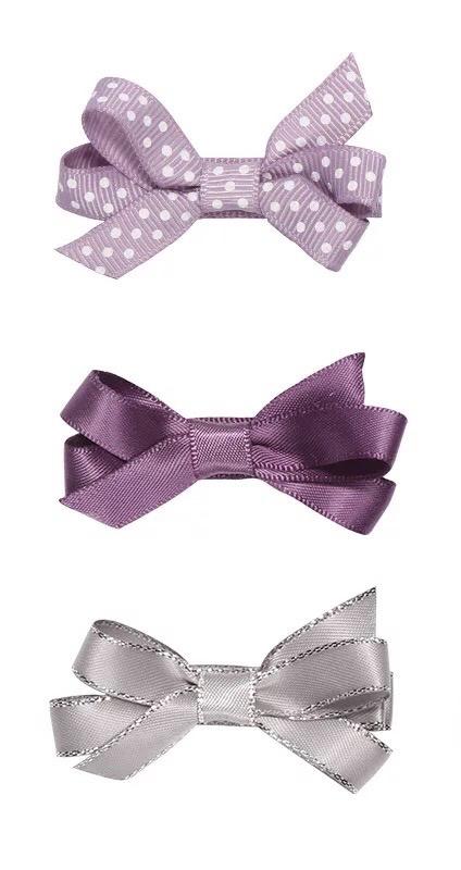 Haarspeldjes:  Strikjes set paars