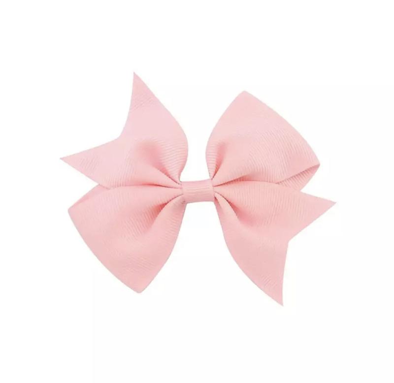 Haarspeldjes: roze strik (groot)