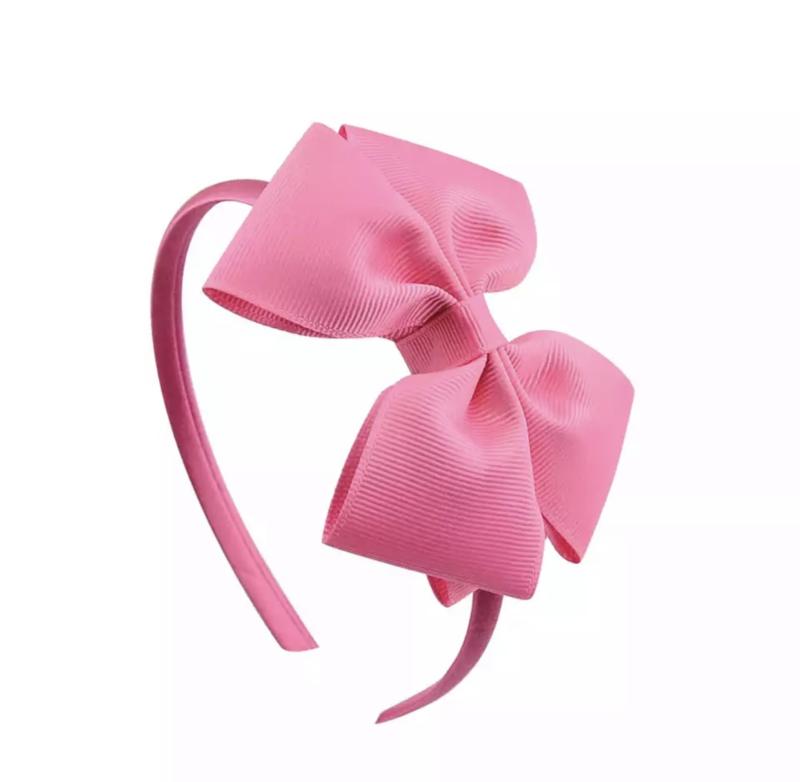Diadeem met strik:  roze