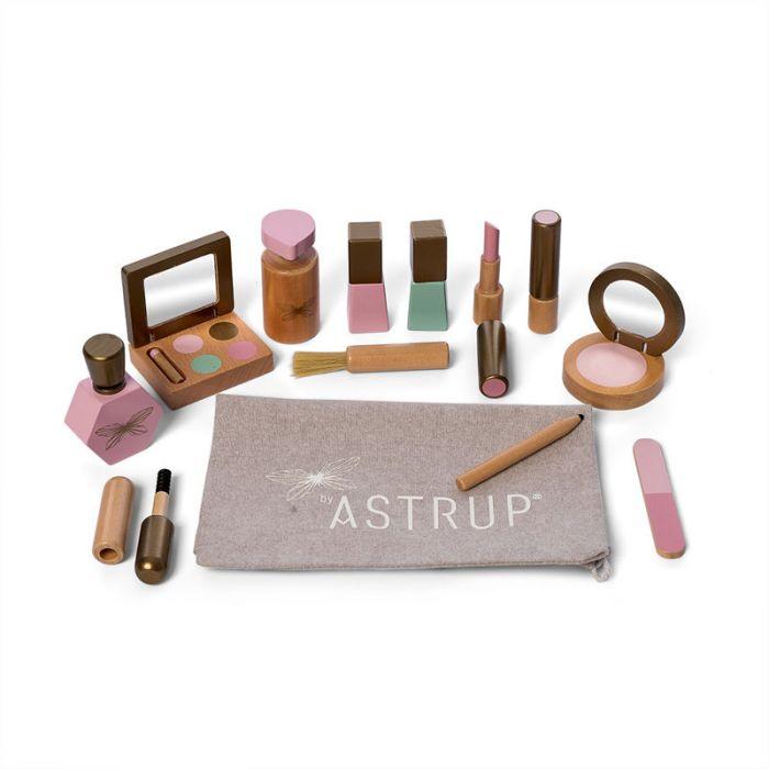 Byastrup houten make-up set in luxe geschenkverpakking