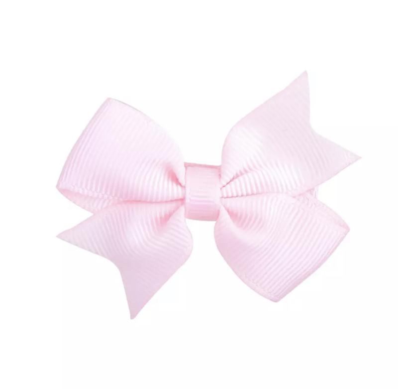 Haarspeldjes: licht roze strik