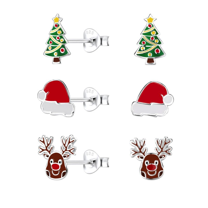 Voordeelsetje kinderoorbellen:  Kerstmis mix