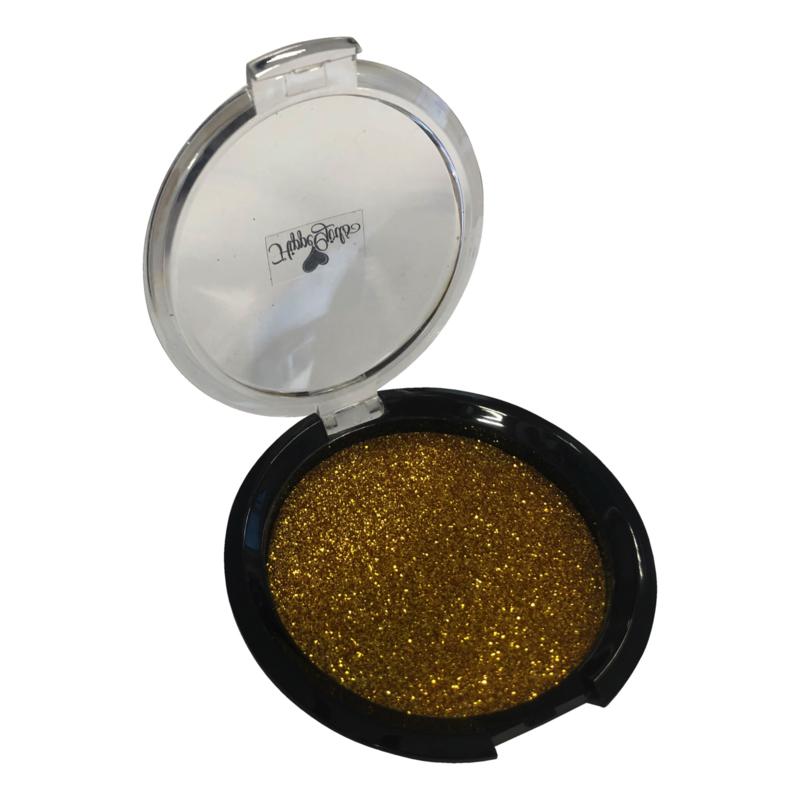 Gouden bronzer met puff