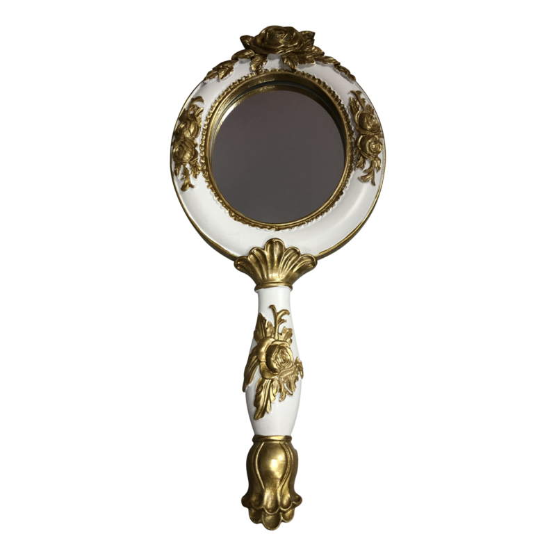 Vintage spiegel Wit/Goud