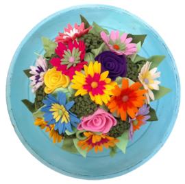 Bruidsboeket Flower power