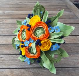 Bruidsboeket Ranonkel oranje