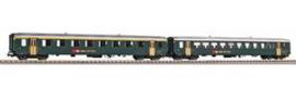 Piko 96790. 2 delige set EW I wagens 1e klas + 2e klas van de SBB: (Periode IV)